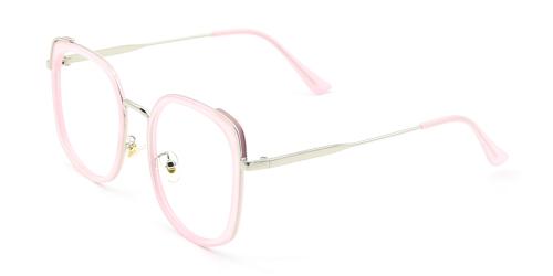 Mixed Material Cat-eye Glasses