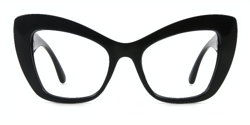 Hipster Big Full Frame Plastic Cat Eye Optical Eyeglasses