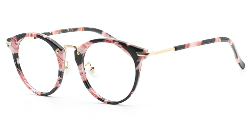 Oval Exquisite Mixed Materials Glasses